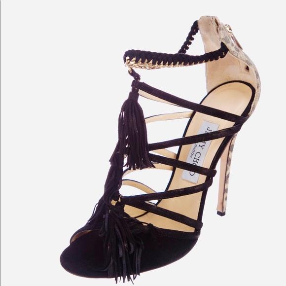 jimmy choo shoes flambe fringe heels poshmark rh poshmark com